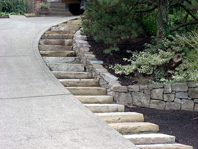 Testimonials burton bix landscape design construction for Sloped driveway options